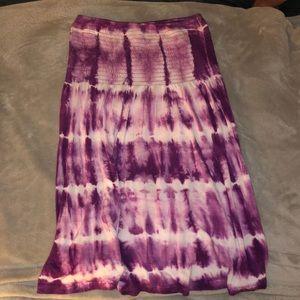 Purple Tie-Dye Dress